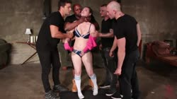 BoundGangBangs Casey Calvert's Double-Penetration Suspension