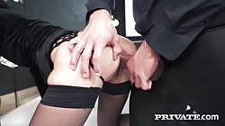 Private  Freya Dee Debuts With Extreme Dp Threesome