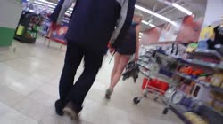 Stalking Hot Pants Girl Shop Part 1