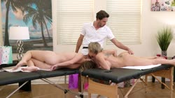 FantasyMassage - Dee Williams And Vienna Rose Daughter Mom Combo