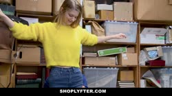 ShopLyfter - Busty Blonde Shop Lifter Fucked by Officer