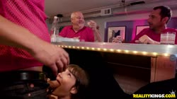 SneakySex Kitty Carrera Serving A Dad And His Daughter