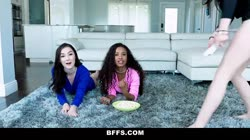 BFFS - Cute Teen Girls Share Cock On the Floor