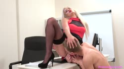 FemaleAgent - Nicole Vice Cum hungry agent swallows big load